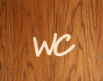 Door Plate - WC