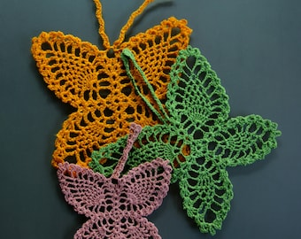 Crochet butterflies a set of three