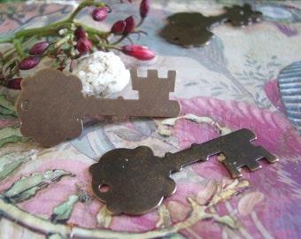 Copper Key Charm,Copper Key Embelishment