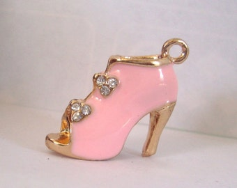 Pink Shoe Jewelry Charm,DIY Shoe Charm