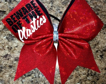 Beware of the Plastics Cheer Bow (any color)