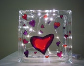 Hand Painted Valentine Glass