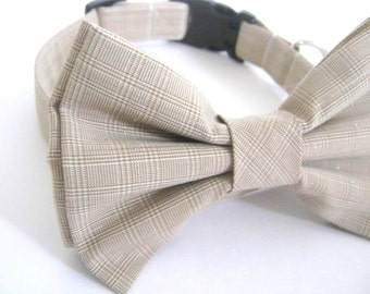 Dog bow tie collar Dog collar with bow tie Bow tie collar Pet collar Dog accessory