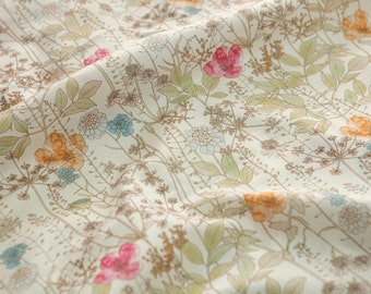 Cotton Fabric Beige By The Yard