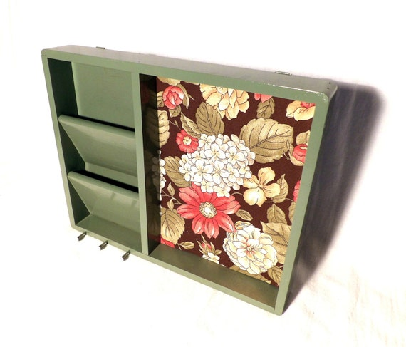 Mail sorter cork board mail holder key rack by for Wall mail organizer with cork board