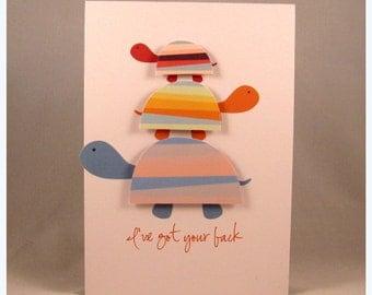 I've got your back blank card