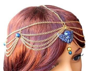 Headband Tiara Tiara Blue Angel Cupid ceramic craft