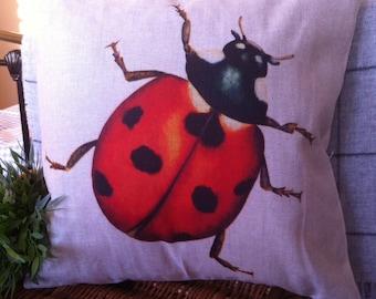 "Ladybird Handmade Cushion Cover, 43x43cm, 17x17"" (approx)"