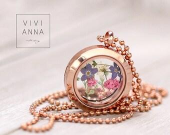 """Rosé gold medallion """"Spring fever"""" K297"""