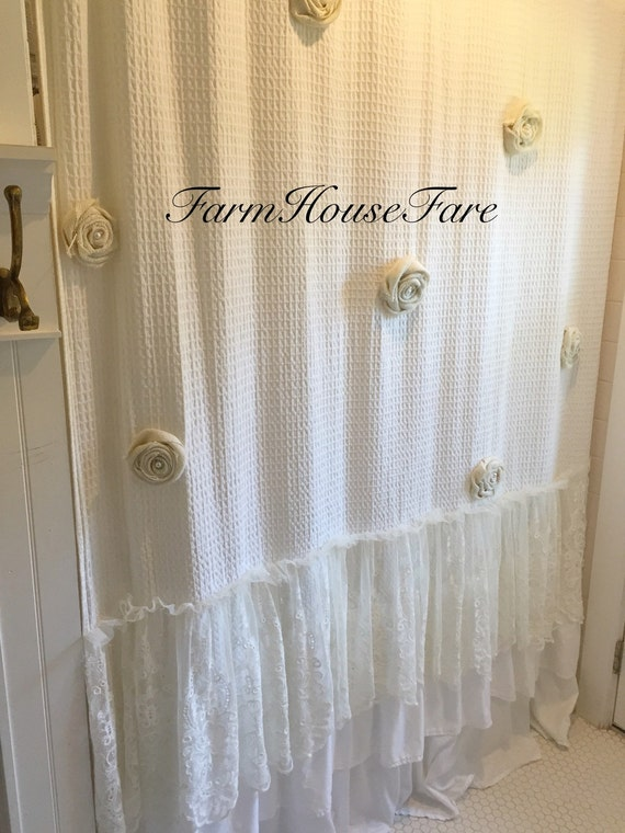 Cotton Shower Curtain Liner Primitive Shower Curtains