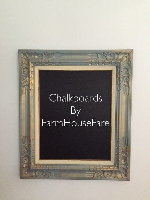 Wedding Menu Sign, Memo Board, Large Shabby Chic Chalkboard, Kitchen Memo  Board, Blue Framed Chalk Board, Ornate Frame from FarmHouseFare on Etsy  Studio