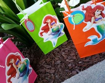 Little Mermaid, Ariel Party Favor  Bags. \ 12 Ariel bags