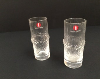 Pair of Ilttala Niva  Cordial/Shot Glasses by Tapio Wirrkala