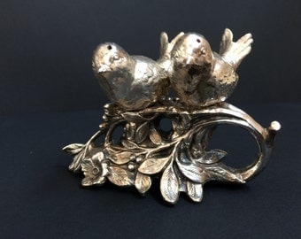 Vintage Weidlich Silver-Plate Bird Salt and Pepper Shakers.Reduced 10.00
