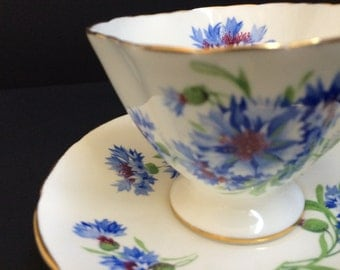 """Hammersley & Co Bone China Cup and Saucer"""" CornFlower"""""""
