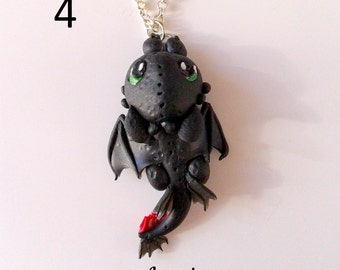 Dragon Trainer Toothless Sdentato How to Train Your Dragon Furia Buia Night Fury Collana