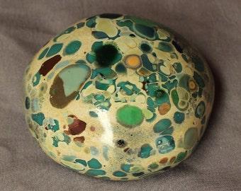 Riverstone #24 - handmade glass paperweight-Christmas Gift