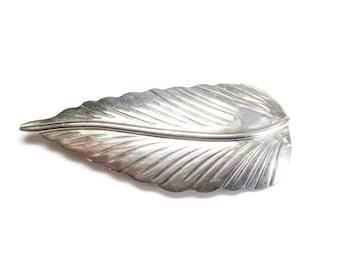 Vintage Navajo Sterling Leaf Brooch Pin