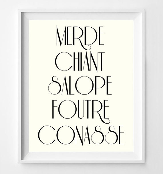 french swear words french language poster parisian wall