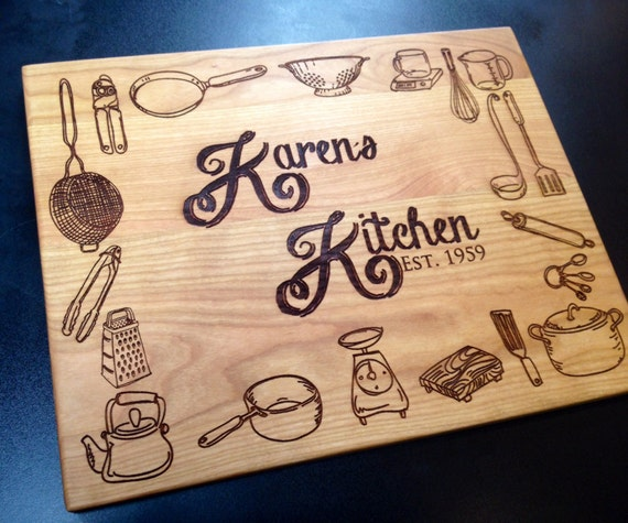 personalized kitchen accessories personalized cutting board kitchen decor kitchen utensils 1471
