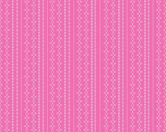 Floriography fabric, Riley Blake Designs, Stripes in Pink (C3945) -- BY THE YARD