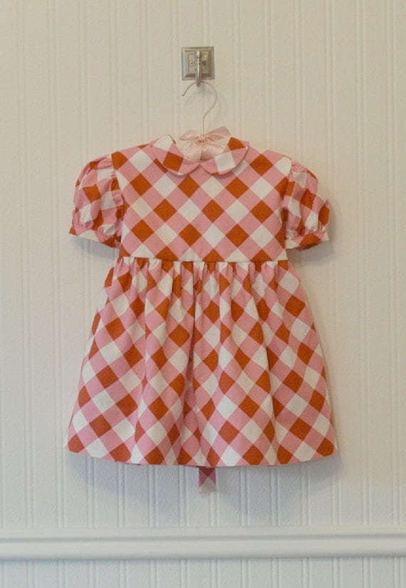 Victorian Edwardian Apron, Maid Costume & Patterns Vintage Inspired Pink and Red Gingham Picknicker Dress. Size 6m 12m 1t 24m 2t 3t.Vintage Inspired Pink and Red Gingham Picknicker Dress. Size 6m 12m 1t 24m 2t 3t. $78.00 AT vintagedancer.com