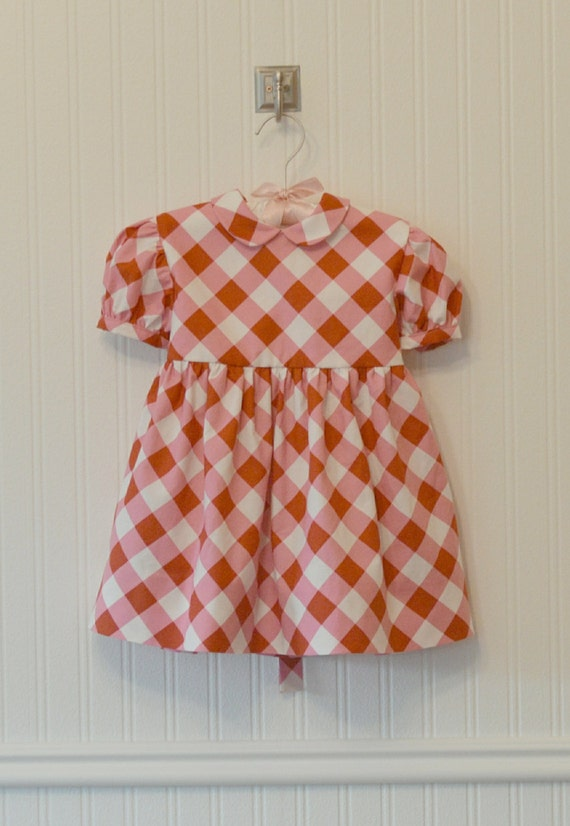 Kids 1950s Clothing & Costumes: Girls, Boys, Toddlers Vintage Inspired Pink and Red Gingham Picknicker Dress. Size 6m 12m 1t 24m 2t 3t.Vintage Inspired Pink and Red Gingham Picknicker Dress. Size 6m 12m 1t 24m 2t 3t. $78.00 AT vintagedancer.com