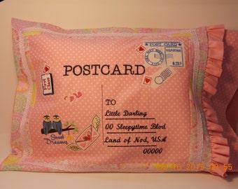 Postcard Land of Nod pillowcase