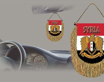 Syria rear view mirror world flag car banner pennant