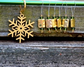 Golden Winter Knitting Stitch Markers
