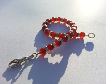 "Carnelian and Stirling Silver bracelet. 7.5"" long"