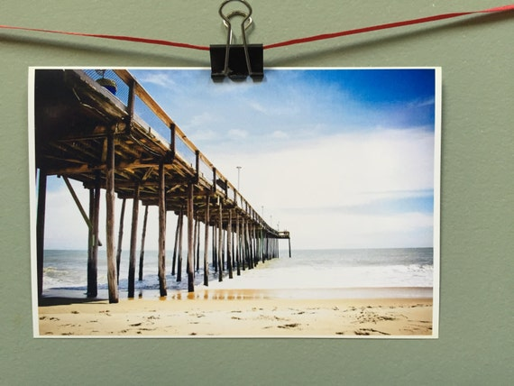 Fishing pier photograph 4x6 gicl e print ocean city for Maryland fishing piers