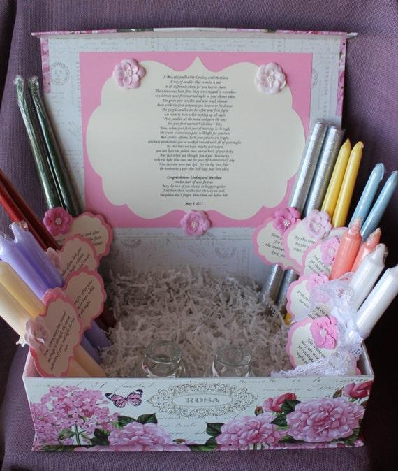 Wedding Shower Candle Poem Gift Set. Bridal By