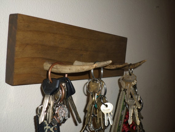 Rustic deer antler key holder - Antler key rack ...