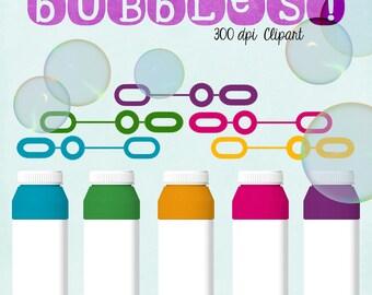Bubbles Clipart, Summer Fun, Digital Bubbles, Blog Scrapbooking Website, Commercial Use Graphics