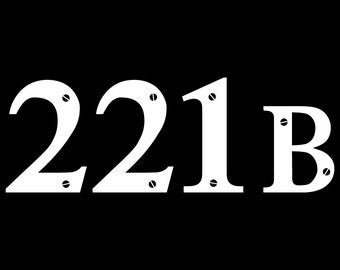 221B Sherlock Holmes Decal Sticker