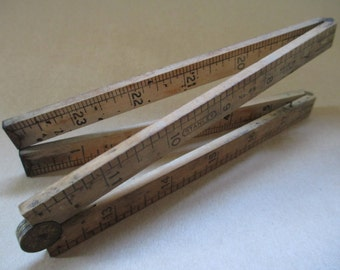 Stanley Tool; Vintage Stanley Tool, Vintage Stanley Ruler, Vintage Four Fold Ruler, Vintage Cabinet Maker's Ruler, Vintage Carpenter's Ruler