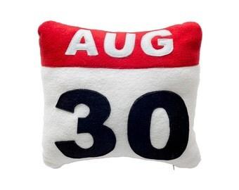 Icon Pillow Calendar, Decorative Pillow, Throw Pillow, Cushion Cover, Pillow Case