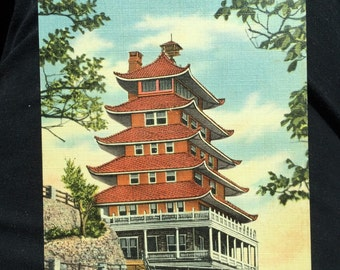 Postcard Reading Pa Pagoda Berks County Excellent Condition Linen