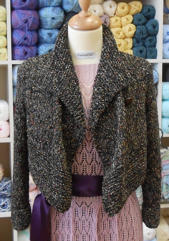 Knitting Pattern For Waterfall Jacket : Waterfall cropped jacket knitting pattern PDF by TheBaldySheep