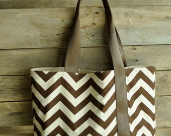 chevron tote bag, large tote bag,  Market bag, carry on, book bag, multi-purpose tote