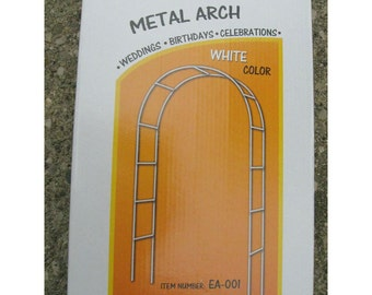 Wedding White Metal Arch Special Occasion, 55-inch x 90-inch
