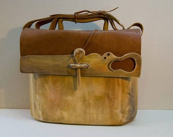 Wooden boho chic bag