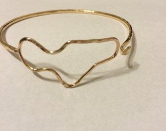 Maui bracelet custom made just for you in Hawaii - Maui jewelry - Hawaiian bracelet-  Maui - silver maui - gold Maui gift - adjustable Maui
