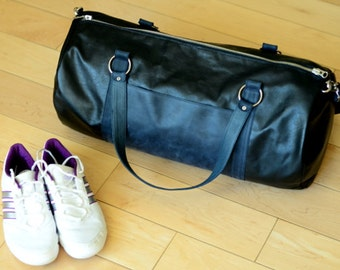 Sport leather bag / big outdoor travel bag