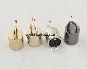 14mm Nickel Barrier Rope hook Barrier Rope Fittings cord end hook Rope end hook end stopper 6 piece