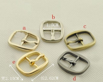 0.6  inch (15mm inner diameter) belt buckle. golden,silver,anti brass,light golden,gun.10 Pcs