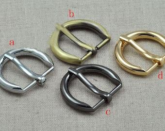 0.8 inch (20mm inner diameter) belt buckle. golden,silver,anti brass,gun.10 Pcs