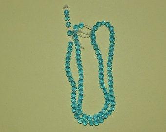 "DESTASH 4 mm Faceted Aqua Colored Czech Glass Beads - 16"" strand (2012205)"