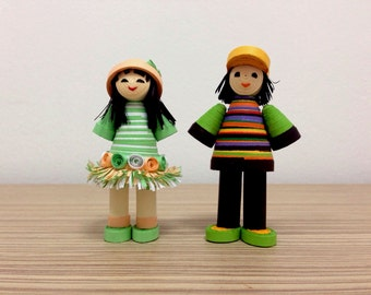 Quilling Funny Boy & Girl